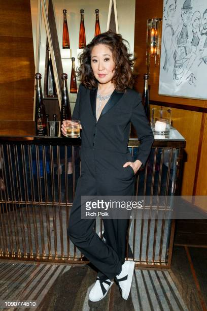 Sandra Oh celebrates with Tequila Don Julio 1942 at their private Golden Globes After-Party on Sunday, January 6 2019 in West Hollywood, California.