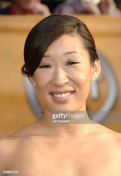 Sandra Oh during 12th Annual Screen Actors Guild Awards Arrivals at Shrine Auditorium in Los Angeles CA United States
