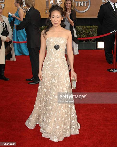 Sandra Oh during 13th Annual Screen Actors Guild Awards Arrivals at Shrine Auditorium in Los Angeles California United States