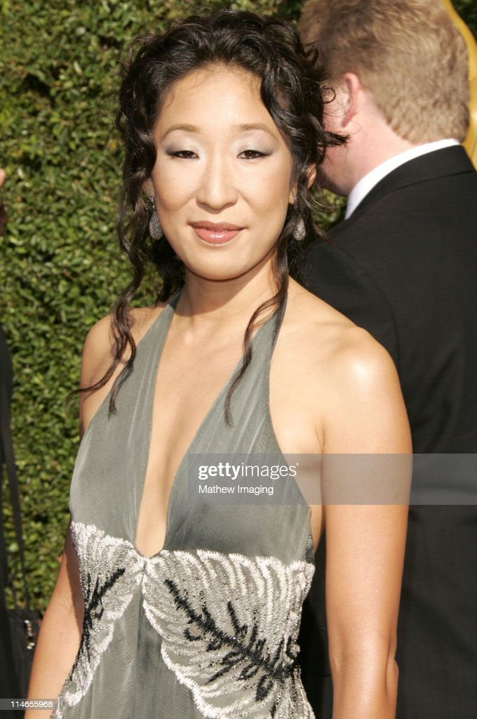 Sandra Oh during 57th Annual Primetime Creative Arts EMMY Awards - Arrivals & Red Carpet at Shrine Auditorium in Los Angeles, California, United States.