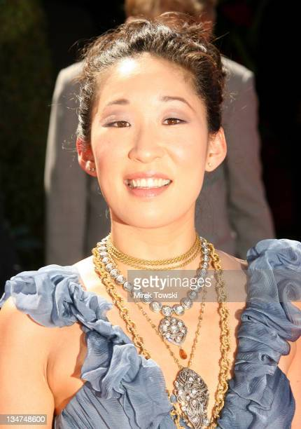 Sandra Oh during 58th Annual Primetime Emmy Awards Arrivals at Shrine Auditorium in Los Angeles California United States