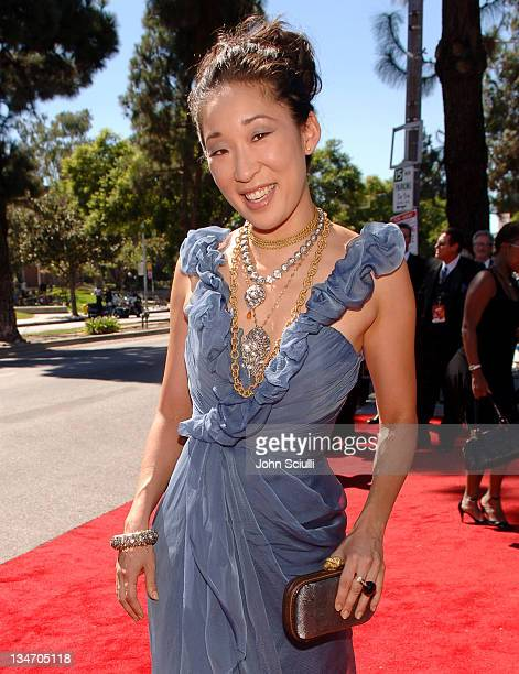 Sandra Oh during Audi Arrivals at the 58th Auunaul Primetime Emmy Awards at Shrine Auditorium in Los Angeles CA United States