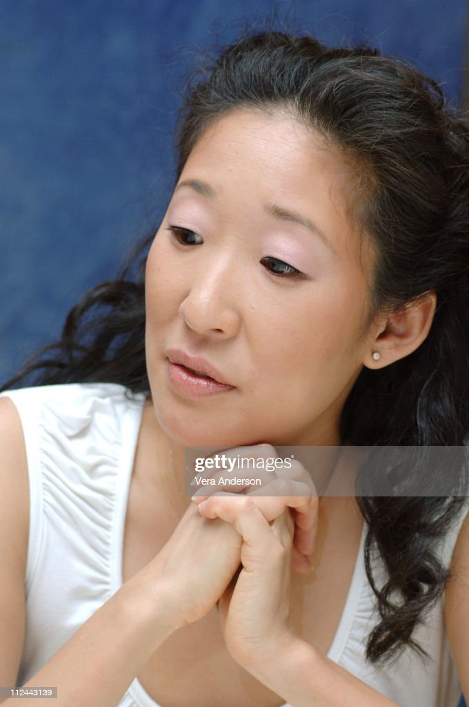 Sandra Oh during 'Grey's Anatomy' Press Conference with Ellen Pompeo, Patrick Dempsey, Sandra Oh, Katherine Heigl, Justin Chambers, Sara Ramirez, Kate Walsh and Isaiah Washington at Regent Beverly Wilshire in Beverly Hills, California, United States.