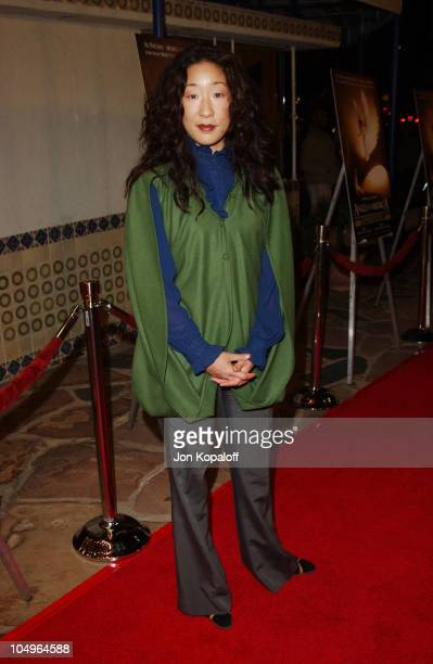 Sandra Oh during Los Angeles Premiere of HBO Films' 'Angels In America' at Mann's Village Theatre in Westwood California United States