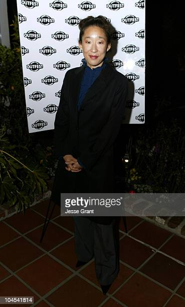 Sandra Oh during Outfest Celebrates Gay Hollywood at The home of Paul Colichman in Bel Air California United States