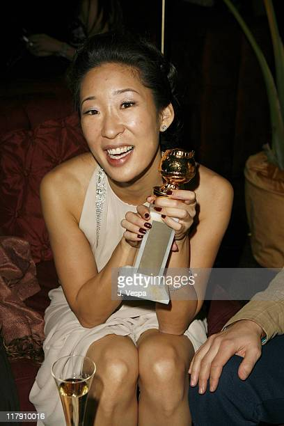 Sandra Oh during The Weinstein Company Glamour Magazine 2006 Golden Globes After Party at Trader Vic's in Beverly Hills California United States