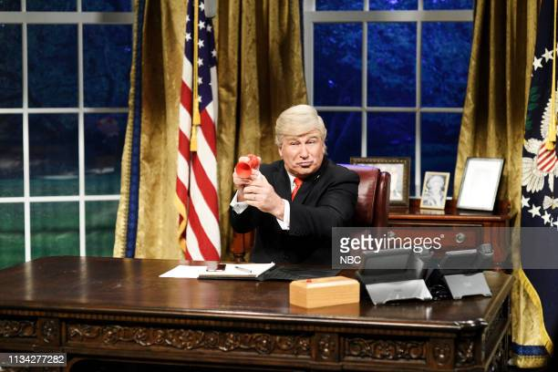 LIVE Sandra Oh Episode 1762 Pictured Alec Baldwin as Donald Trump during the Mueller Report Cold Open on Saturday March 30 2019