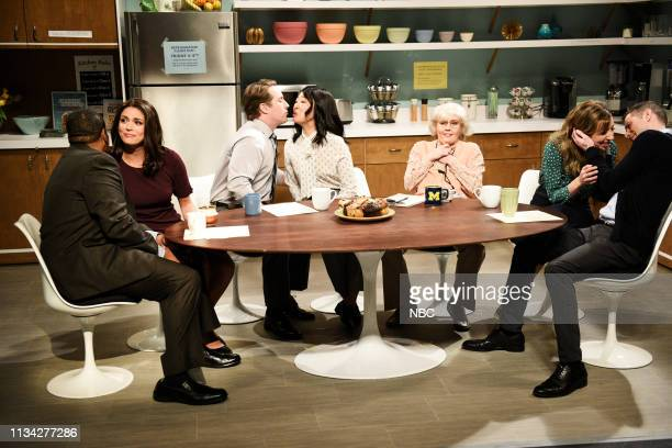LIVE Sandra Oh Episode 1762 Pictured Kenan Thompson Cecily Strong Beck Bennett and host Sandra Oh as coworkers Kate McKinnon as Louise and Heidi...