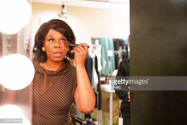 "Sandra Oh"" Episode 1762 -- Pictured: Leslie Jones backstage in Studio 8H on Saturday, March 30, 2019 --"
