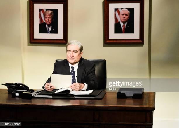 "Sandra Oh"" Episode 1762 -- Pictured: Robert De Niro as Robert Mueller during the ""Mueller Report"" Cold Open on Saturday, March 30, 2019 --"