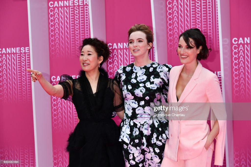"""""""Killing Eve"""" and """"When Heroes Fly"""" Pink Carpet Arrivals - The 1st Cannes International Series Festival : Photo d'actualité"""