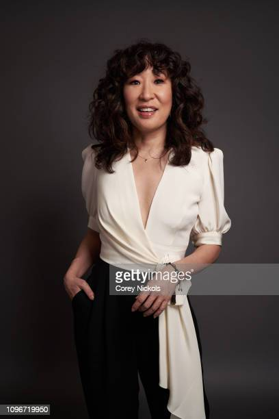 Sandra Oh of AMC's Killing Eve poses for a portrait during the 2019 Winter TCA at The Langham Huntington Pasadena on February 9 2019 in Pasadena...