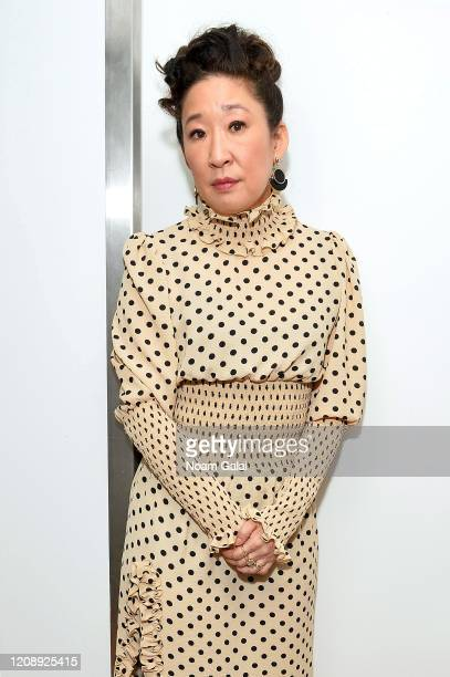 Sandra Oh poses backstage during the 33nd Annual Tibet House US Benefit Concert & Gala on February 26, 2020 in New York City.