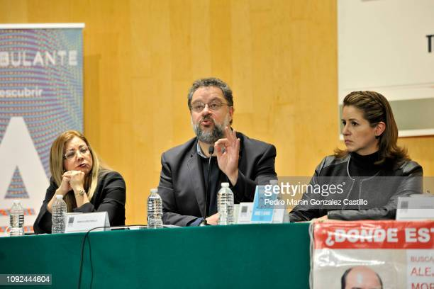 Sandra Paola Gonzalez Castañeda Ernesto Lopez Portillo Vargas and Mexican politician Martha Tagle Martínez attend the screening of the documentary...