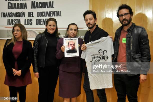 Sandra Paola Gonzalez Castañeda Mexican politician Martha Tagle Martínez Lucia Baca Mexican actor Diego Luna and Director Alberto Arnaut attend the...