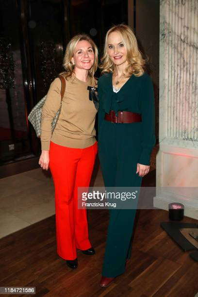 Sandra Papst and Anne Meyer-Minnemann during the Titanic Hotel and DKMS Life Christmas Charity Ladies Lunch on November 25, 2019 in Berlin, Germany.