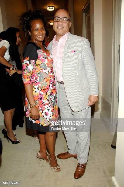 Sandra Parks and Darren Walker attend Susan FalesHill's ONE FLIGHT UP Book Launch Party at 15 Central Park West on July 21st 2010 in New York City