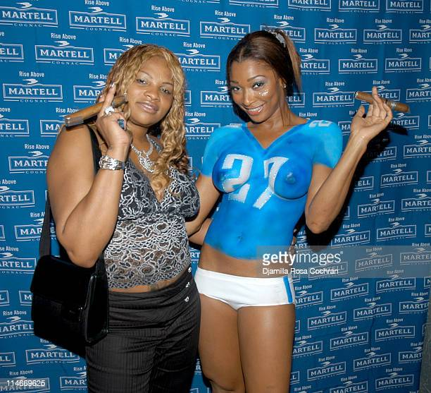 Sandra 'Pepa' Denton and Anquinetta Kelly during Martell Cognac Hosts Eddie George's Bachelor Party at CEO in New York City New York United States
