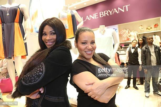 Sandra 'Pepa' Denton and Cheryl 'Salt' James of SaltNPepa attend Lane Bryant I Am No Angel launch event at Lane Bryant on April 6 2015 in New York...