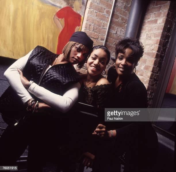 Sandra Pepa Denton Cheryl Salt James and Deidre Spinderella Roper of SaltNPepa on 10/17/93 in Chicago Il