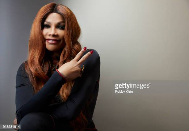 Sandra 'Pepa' Denton from 'Growing Up Hip Hop' poses for a portrait in the YouTube x Getty Images Portrait Studio at 2018 Sundance Film Festival on...