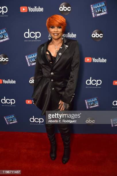 Sandra Pepa Denton of SaltNPepa attends Dick Clark's New Year's Rockin' Eve with Ryan Seacrest 2020 Hollywood Party on November 23 2019 in Los...