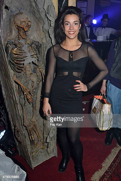 Sandra Pericou from Le Bal des Vampires Musical Comedy attends the ÔLe Bal des VampiresÔ Press Conference at Theatre Mogador on March 17 2014 in...