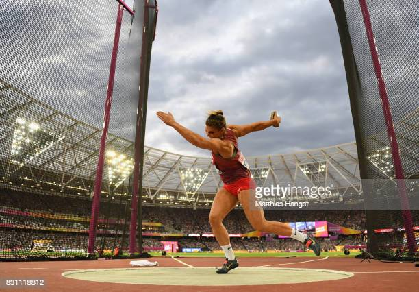 Sandra Perkovic of Croatia competes during the Women's Discus final during day ten of the 16th IAAF World Athletics Championships London 2017 at The...