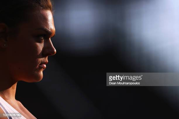 Sandra Perkovic of Croatia competes in the women's discus throw during the IAAF Diamond League AG Memorial Van Damme at King Baudouin Stadium on...