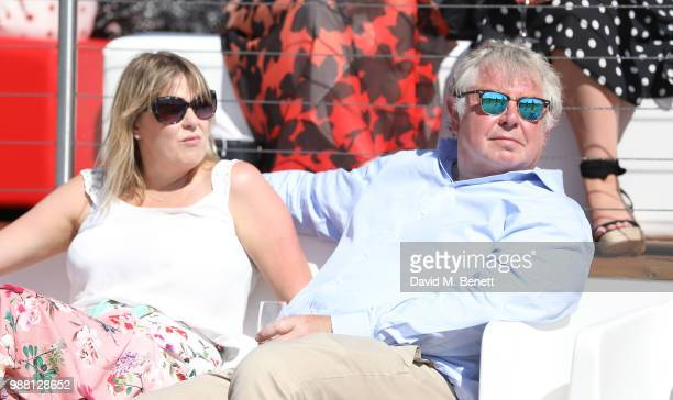 Sandra Phylis Conolly and Nick Ferrari attend the Audi Polo Challenge at Coworth Park Polo Club on June 30 2018 in Ascot England