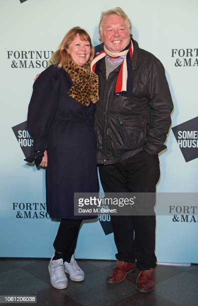 Sandra Phylis Conolly and Nick Ferrari attend the opening party of Skate at Somerset House with Fortnum Mason on November 13 2018 in London England...