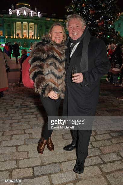 Sandra Phylis Conolly and Nick Ferrari attend the opening party of Skate at Somerset House on November 12 2019 in London England Celebrating its 20th...