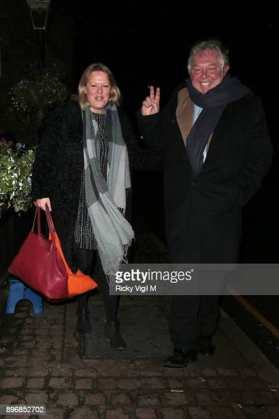 Sandra Phylis Conolly and Nick Ferrari seen attending Piers Morgan Christmas party at Scarsdale Tavern on December 21 2017 in London England