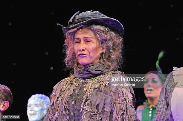 Sandra Pires performs on stage during the Mary Poppins musical premiere at Ronacher Theater on October 1 2014 in Vienna Austria