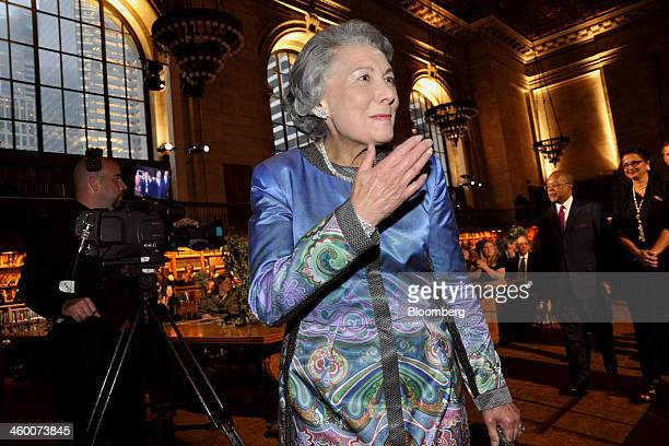 Sandra Priest Rose a philanthropist and founder of the Reading Reform Foundation of New York attends a gala honoring the centennial of the New York...