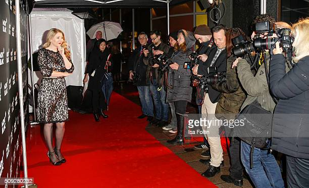 Sandra Quadflieg attends the Montblanc House Opening on February 09 2016 in Hamburg Germany