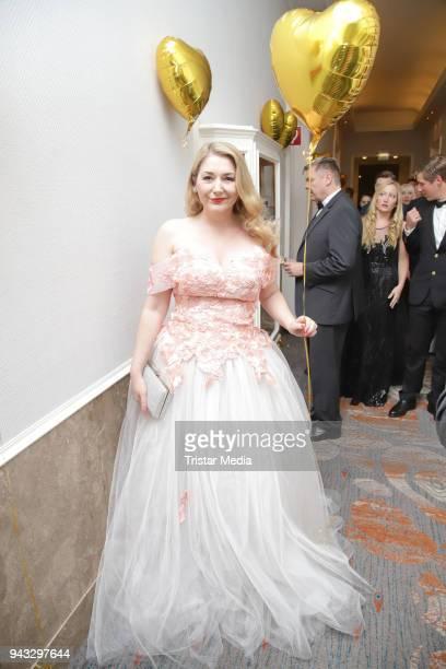 Sandra Quadflieg during the 21st Blauer Ball at Hotel Atlantic on April 7 2018 in Hamburg Germany