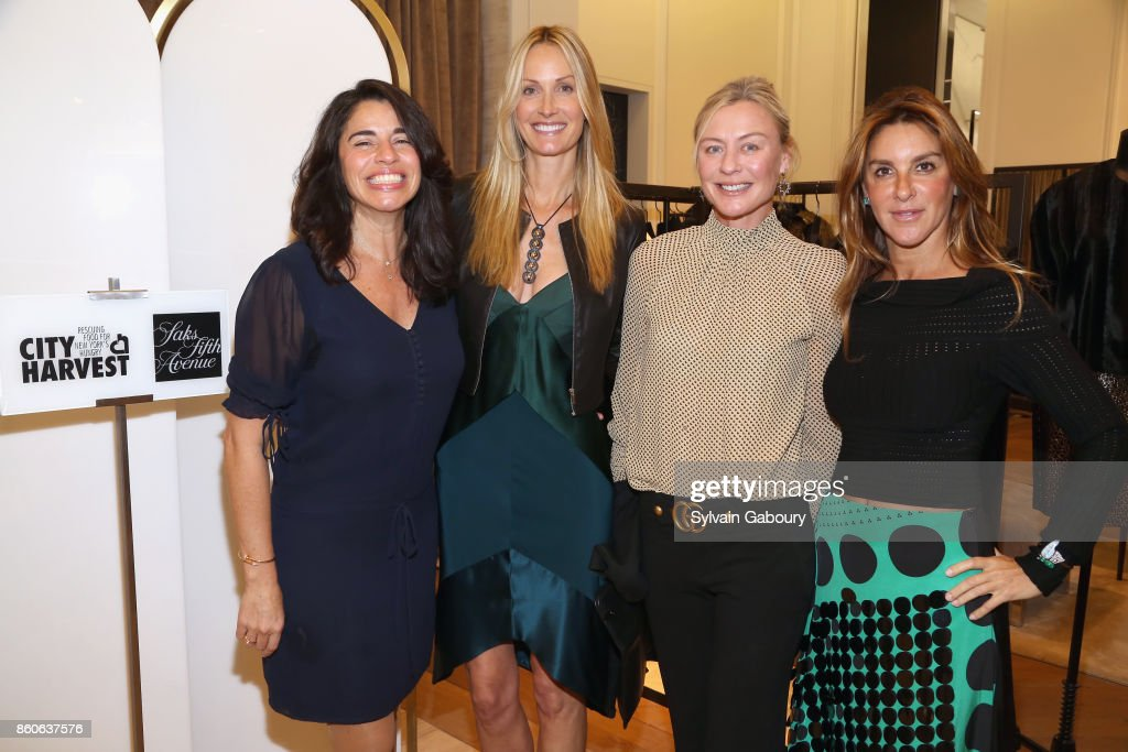 Sandra Ripert, Christine Mack, Renee Rockefeller and Dori Cooperman attend Saks Fifth Avenue Luncheon to Benefit City Harvest at Saks Fifth Avenue on October 12, 2017 in New York City.