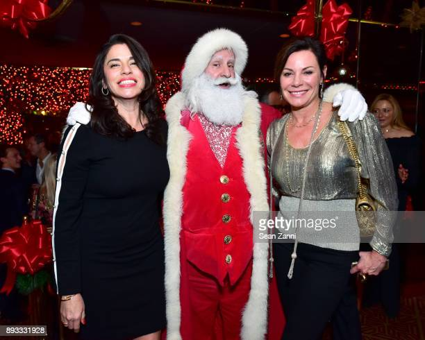 Sandra Ripert Santa Claus and Luann de Lesseps attend A Christmas Cheer Holiday Party 2017 Hosted by George Farias and Anne and Jay McInerney at The...