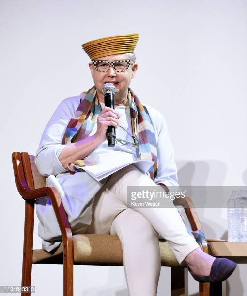 Sandra Schulberg appears onstage at the HFPA Film Restortion Summit The Global Effort to Preserve Our Film Heritage at The Theatre at Ace Hotel on...
