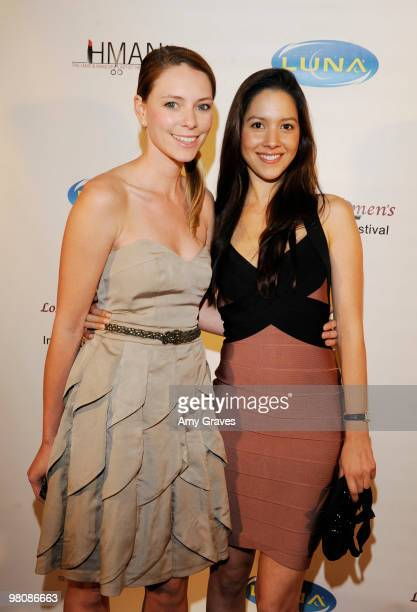 Sandra Seeling and Shina DeGucci attend the Los Angeles Women's International Film Festival Opening Night Gala at Libertine on March 26 2010 in Los...