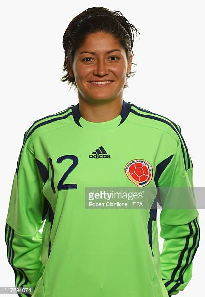 Sandra Sepulveda of Colombia during the FIFA portrait session on June 25 2011 in Cologne Germany