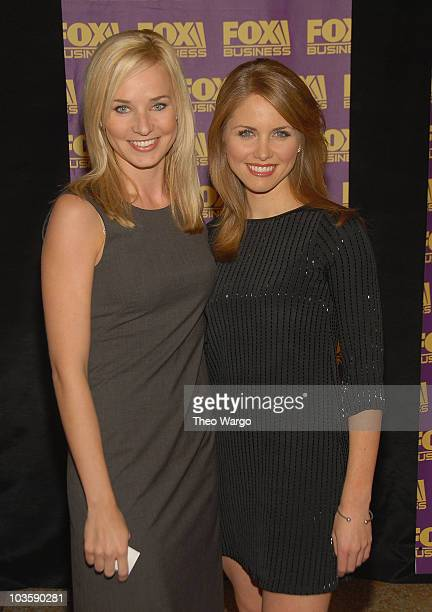 Sandra Smith and Jenna Lee at the Fox Business Network Launch Party at the Metropolitan Museum of Art in New York City on October 24 2007
