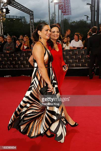 Sandra Speichert and Elisabeth Lanz attend the German TV Award 2012 at Coloneum on October 2 2012 in Cologne Germany