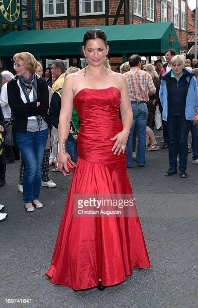 Sandra Speichert attends 1500th episode celebration event at Palais Hotel Bergstroem on May 31 2013 in Luneburg Germany