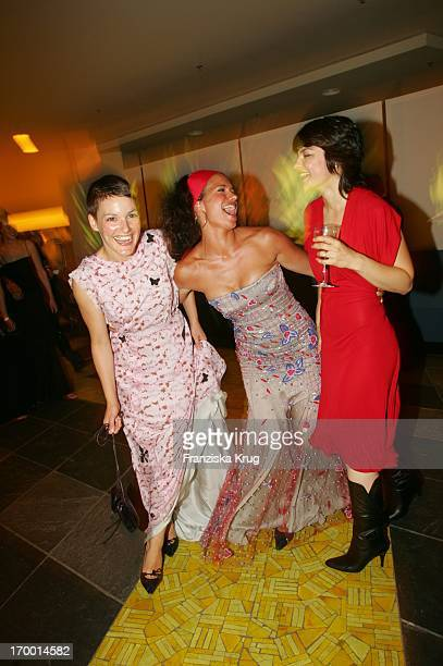 Sandra Speichert Jasmin Tabatabai and Nicolette Krebitz at Party After The 55th Ceremony Of The 'German Film Award' in the Berlin Philharmonic Hall...