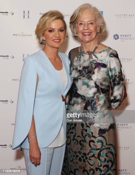 Sandra Sully and Dame Quentin Bryce attend the International Women's Day Long Table Luncheon at Hyatt Regency Sydney on March 01, 2019 in Sydney,...