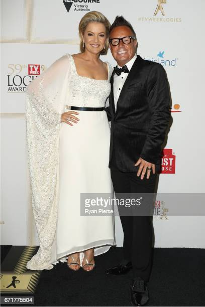 Sandra Sully and Tim Bailey arrives at the 59th Annual Logie Awards at Crown Palladium on April 23 2017 in Melbourne Australia