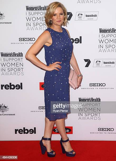 Sandra Sully arrives ahead of the Women's Health I Support Women in Sport Awards at Hordern Pavilion on October 27 2015 in Sydney Australia