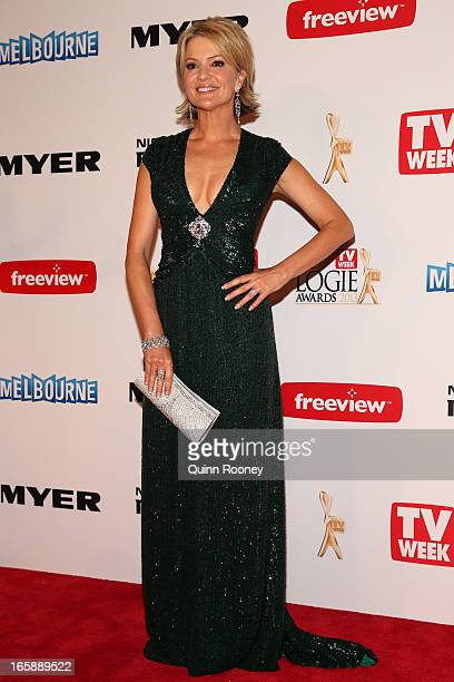 Sandra Sully arrives at the 2013 Logie Awards at the Crown Palladium on April 7 2013 in Melbourne Australia